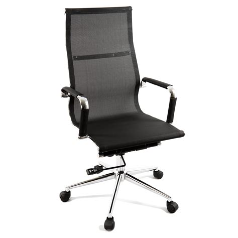 new black modern ergonomic mesh high back executive
