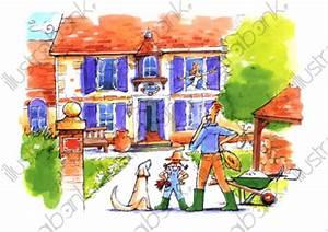 La Maison De Mes Reves : la maison de mes r ves illustration au jardin libre de droit sur ~ Nature-et-papiers.com Idées de Décoration
