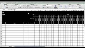 Tutorial Excel Template Oder Vorlage F U00fcr Timing    Terminplan