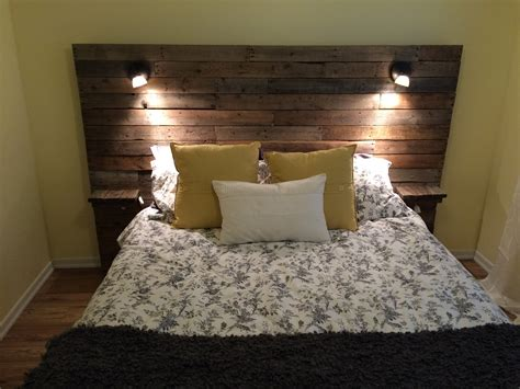 beds with lights in headboard pallet headboard with shelf lights and plugs for cell