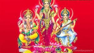 View Of Laxmi Ganesh Saraswati Wallpaper Hd : Hd Wallpapers