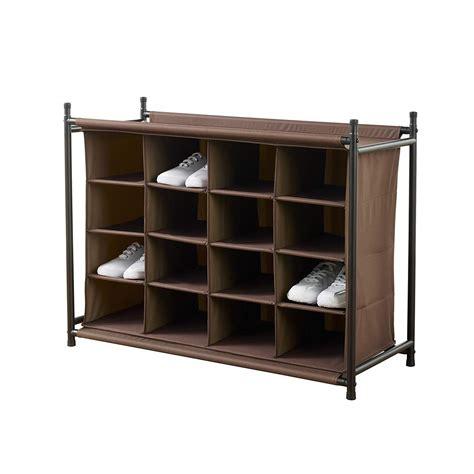 Shoe Racks Closet by Shoe Organizer Compartments Closet Bedroom Mudroom Storage
