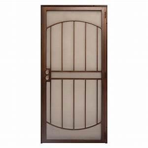 unique home designs 36 in x 80 in arcada copper surface With unique home designs security door