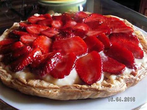 recette tarte fraise creme patissiere pate feuilletee g 226 teaux de vacances populaires en