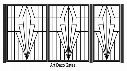 Deco Gates Iron Wrought Gate Clipart Steel