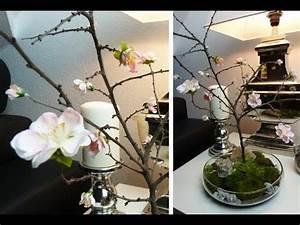 Frühlingsdeko Aus Naturmaterialien Selber Machen : diy deko f r den tisch mit selbst gebasteltem kirschbl tenzweig deko kitchen youtube ~ Eleganceandgraceweddings.com Haus und Dekorationen