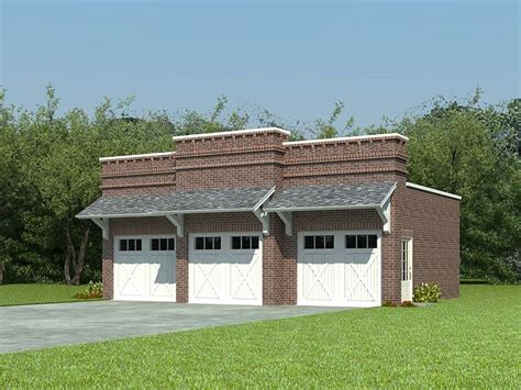 Unique 3-car Garage Plan # 006g-0044