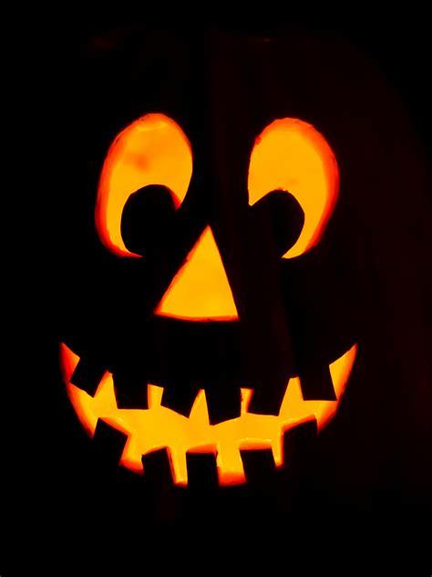 halloween pumpkin faces  stock photo public domain