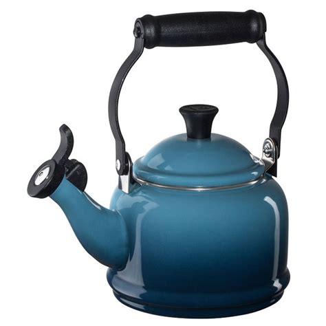 tea kettle pots creuset le whistling kettles demi qt teapot marine quart kitchen bath beyond bed oyster teapots bedbathandbeyond coffee