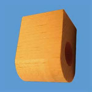 """Curtain Rod Coupler Support Unfinished Pine 3"""" Projection"""