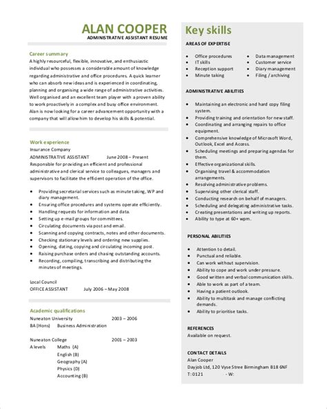 Executive Assistant Resume Objective Administrative