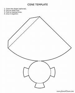 printable 3d cone template color it cut it out fold it With template to make a cone