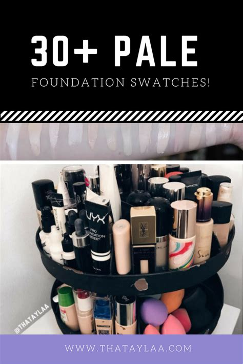 30 Shades Of by 30 Palest Shades Of Different Foundations Swatched