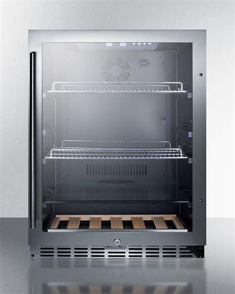 stainless kitchen cabinet summit scr2466 built in undercounter beverage refrigerator 2466