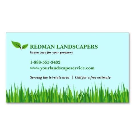 grassy landscape business card zazzlecom landscaping