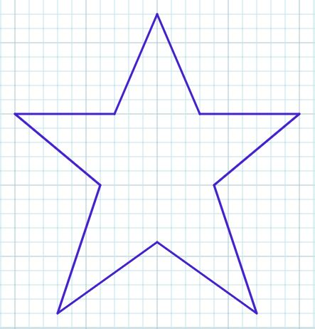 tips  drawing  star   graph paper