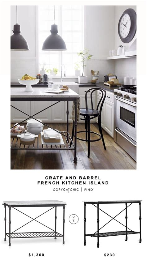 crate  barrel french kitchen island copycatchic