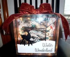 items similar to glass block christmas decoration on etsy