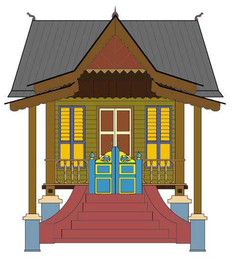 gambar rumah adat vector rumah adat indonesia
