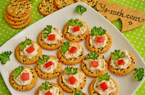 canap駸 recipe spicy cheese canapes recipe recipes from