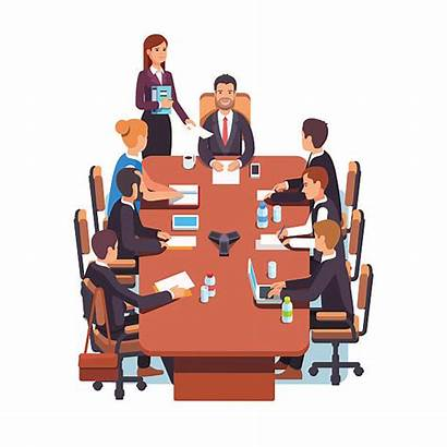 Meeting Board Directors Vector Conference Business Illustrations