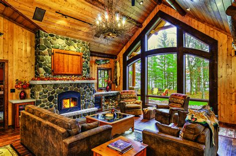pictures of log home interiors a cabin up