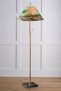 lily mosaic copper floor lamp by janna ugone and justin With copper flower floor lamp