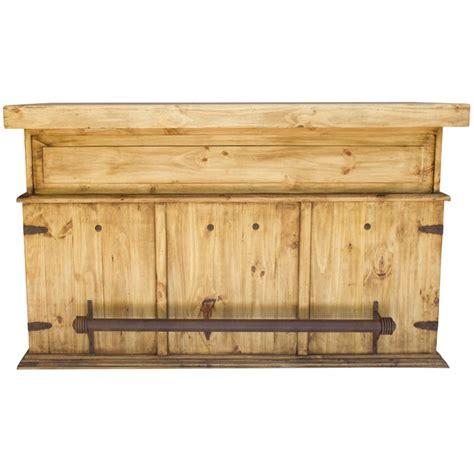 Rustic Cat Furniture rustic bar with wood top