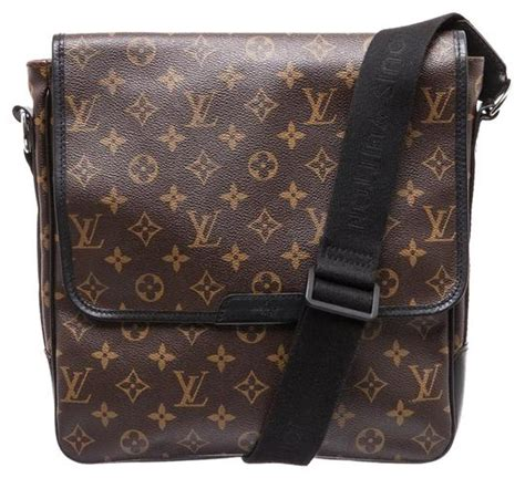 louis vuitton macassar bass monogram black messenger bag