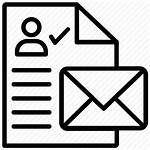 Icon Mailing Open Record Marketing Register Icons