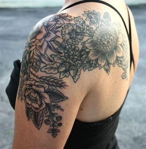 floral tattoo  wrap  shoulder