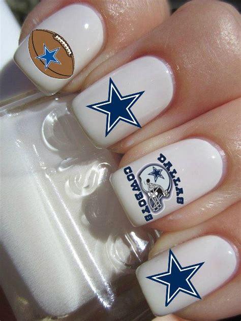 dallas cowboys nfl football nail decals       fan   nail