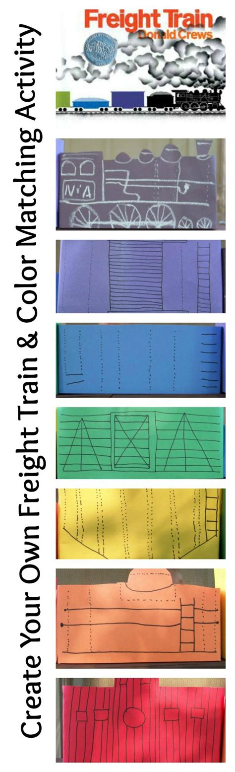 freight train color matching activity  kids
