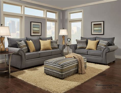 contemporary living room set grey  home