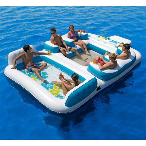 Chair Mat Walmart Canada by New Giant Inflatable Floating Island 6 From Amazon Things I