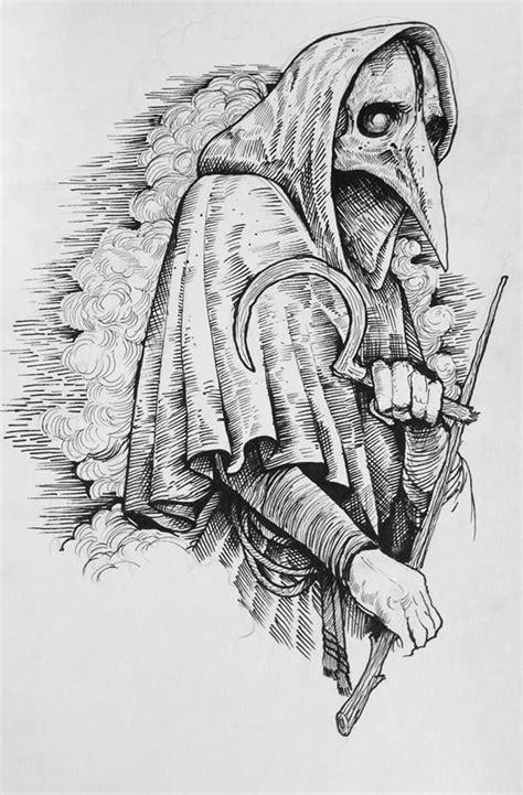 Grindesign Plague Doctor Drawing Illustration