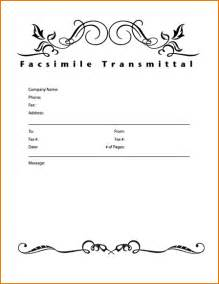 Word Fax Cover Letter 6 Fax Cover Letter Template Teknoswitch