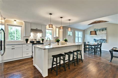 kitchen island ideas  galley kitchens  intended long