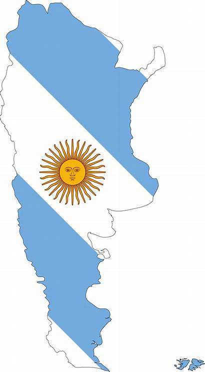 Argentina Clipart Flag Map Border Country Clip