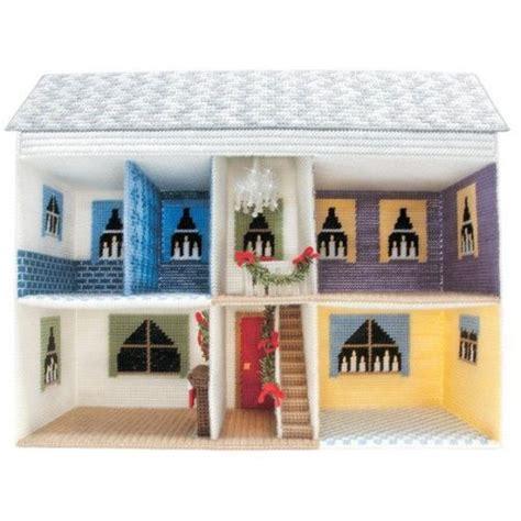 christmas dollhouse  barbie plastic canvas crafts
