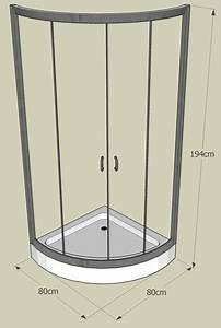 Cabine De Douche En Verre : cabine de douche quart de cercle et receveur ~ Zukunftsfamilie.com Idées de Décoration