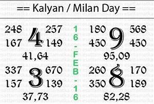 Kalyan Matka Panditji Chart 16 Feb 2016 With Images