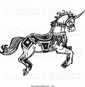 Royalty Free Black and White Stock Unicorn Designs