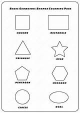 Shapes Geometric Coloring Pages Basic sketch template