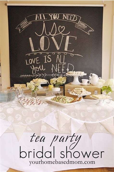bridal shower tea tea party bridal shower theme your homebased mom