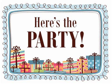 unique word party invite template    images