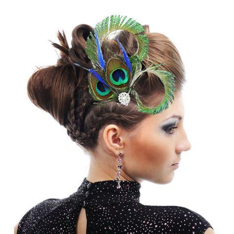 Hair Accessories Elegant Lady Feather Fascinator Hair ...