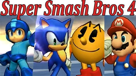 Mario Vs Sonic Vs Pac Man Vs Megaman Super Smash Bros