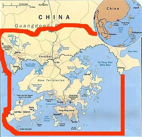 map  china hong kong