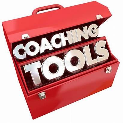 Coaching Leadership Tools Team Toolbox Building Illustration